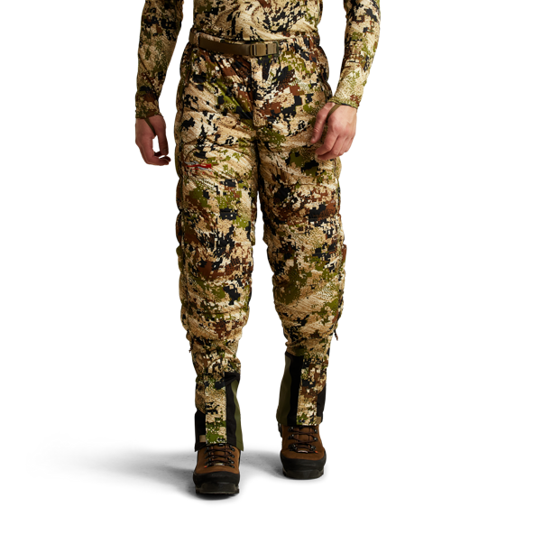 Kelvin Lite Down Pant Subalpine on model front-facing