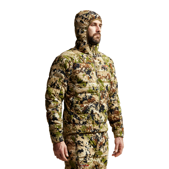 Kelvin Lite Down Jacket Subalpine from the back