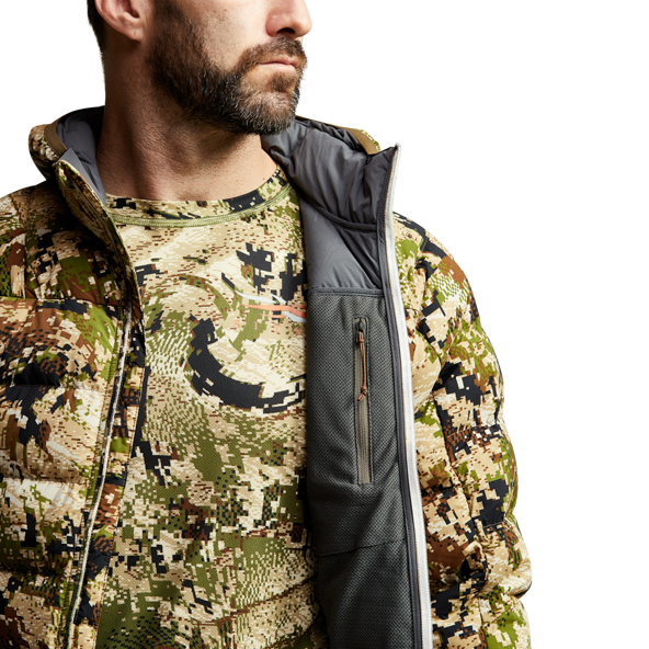Kelvin Lite Down Jacket Subalpine internal zipper