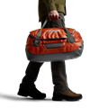 Drifter Duffle 50L in Burnt Orange removable straps