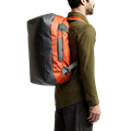 Drifter Duffle 50L in Burnt Orange macro waterproof exterior
