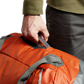 Drifter Duffle 50L in Burnt Orange carrying straps