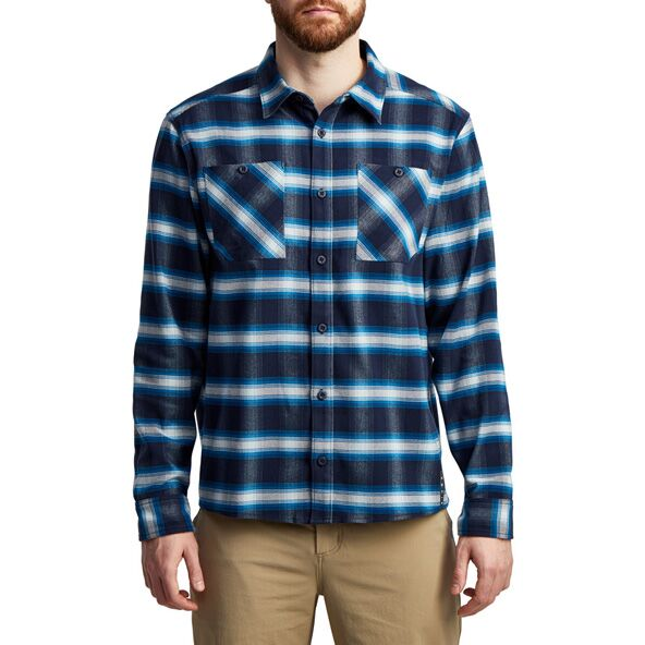Riser Work Shirt in Eclipse Plaid from the front