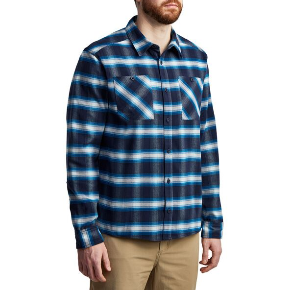 Riser Work Shirt in Eclipse Plaid from the side