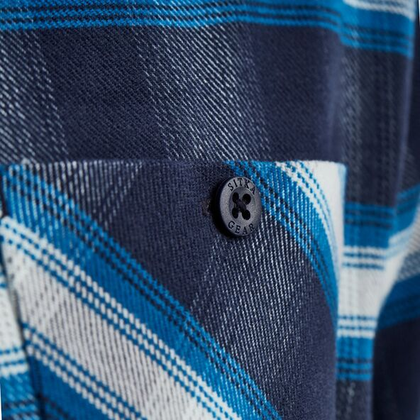 Riser Work Shirt in Eclipse Plaid button