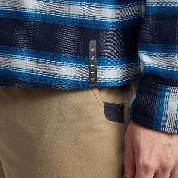 Riser Work Shirt in Eclipse Plaid SITKA tag