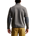 Front Range Snap Fleece in Lead zipper chest pocket