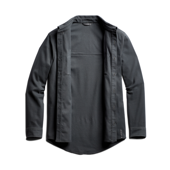 Riser Work Shirt in Lead front view