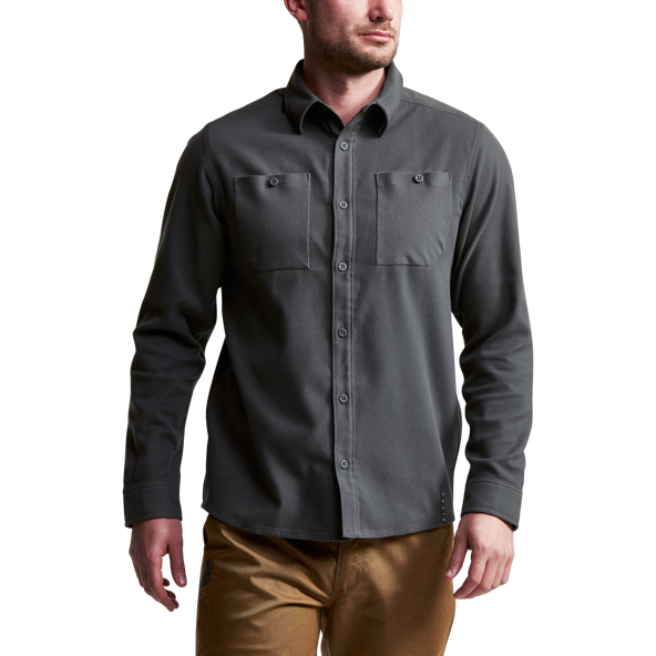 Riser Work Shirt in Lead side view