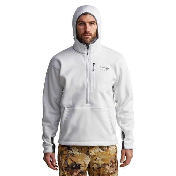 Gradient Hoody in White front view