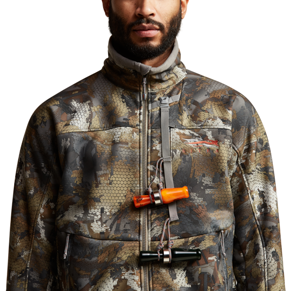 Dakota Jacket in Waterfowl Timber front hand pockets