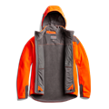 Stratus Windstopper Jacket in Blaze Orange front view for rifle hunters