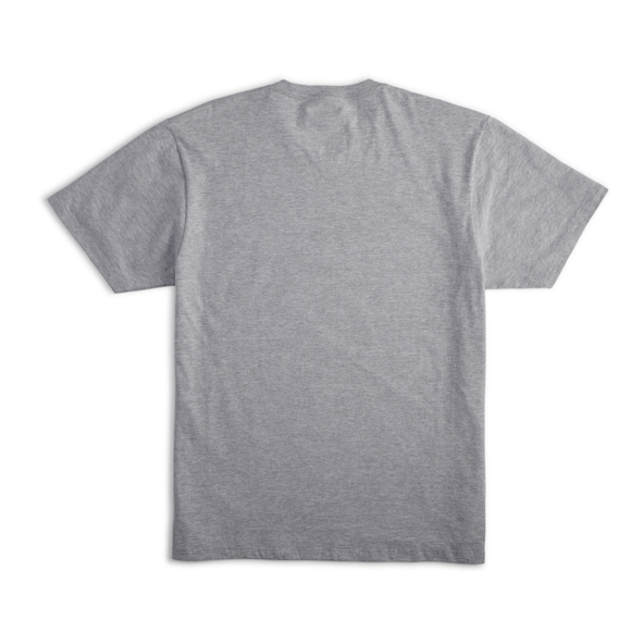 Back of Compass Tee in Heather Grey