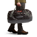 Drifter Duffle 75L in Lead carrying straps
